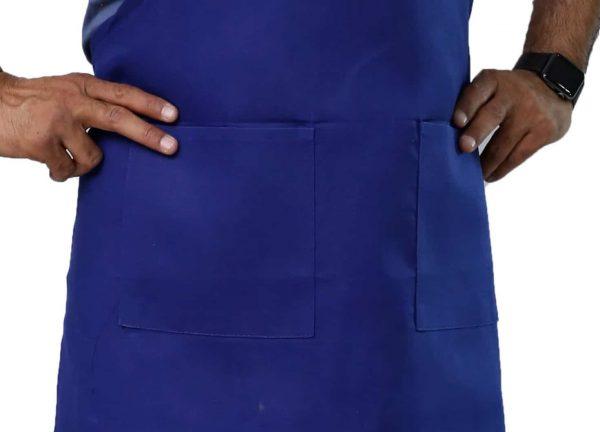 Royal Blue Adjustable Apron having pockets