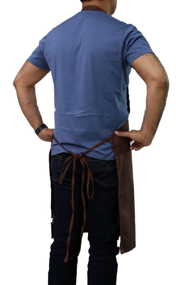 Brown Bib Apron's Tied Straps