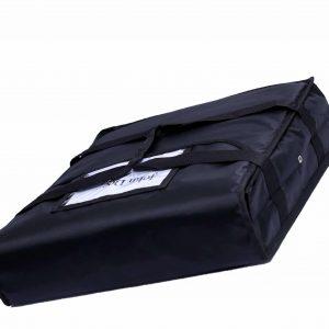 Black Insulated Pizza Bags Exterior Design