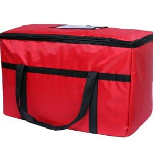 beautiful red insulated food delivery bag
