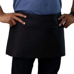 black waist apron pockets style