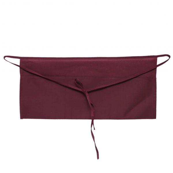 burgundy waist aprons