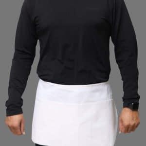 White Professional waist apron