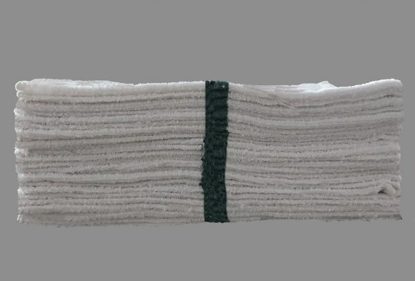 green stripe bar towels (pack of dozen)