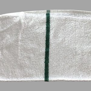 Green Striped Bar Towels for Commercial Use