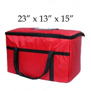 Red insulated Food Delivery Bag (23 x 13 x 15)