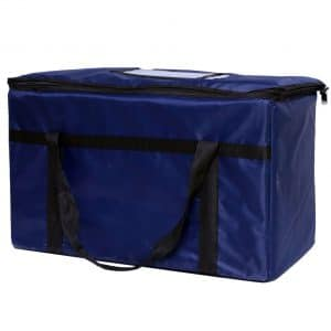nice exterior blue insulated food delivery bags