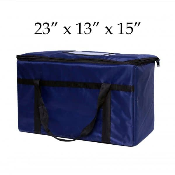 blue insulated food delivery bag (23 x 13 x 15)