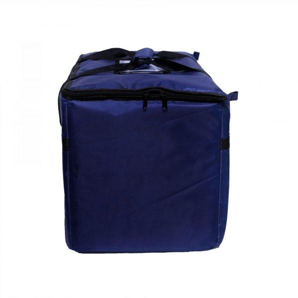 Blue Food Bag with Zipper Closure