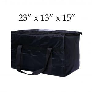 black insulated food delivery bags (23 x 13 x 15)