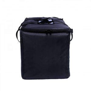 Black Food Bag with Zipper Closure
