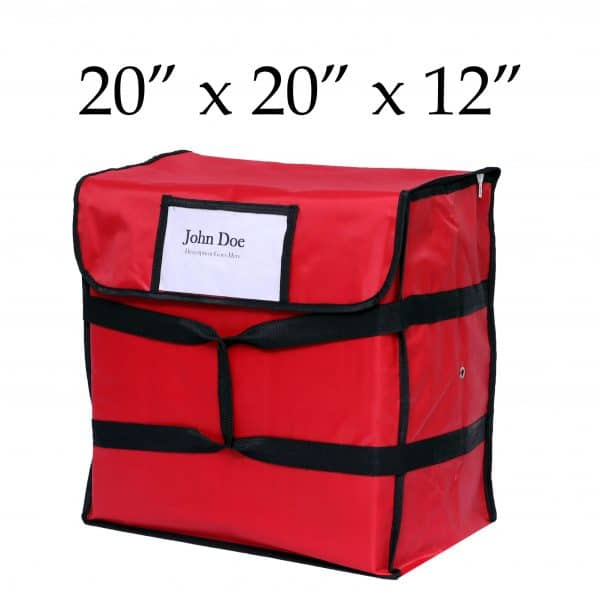 Red Insulated Pizza Delivery Bag (20 x 20 x 12)