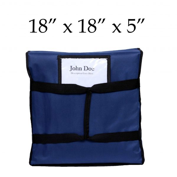 Blue insulated Pizza Delivery Bags (18 x 18 x 5)