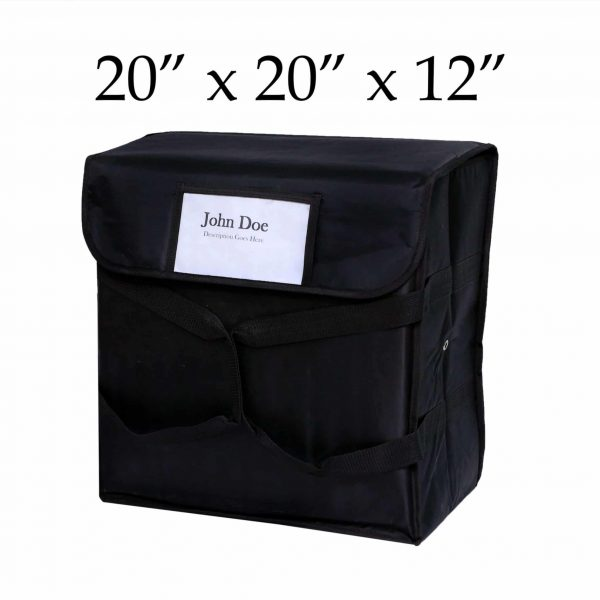 Black Insulated Pizza Delivery Bags (20 x 20 x 12)