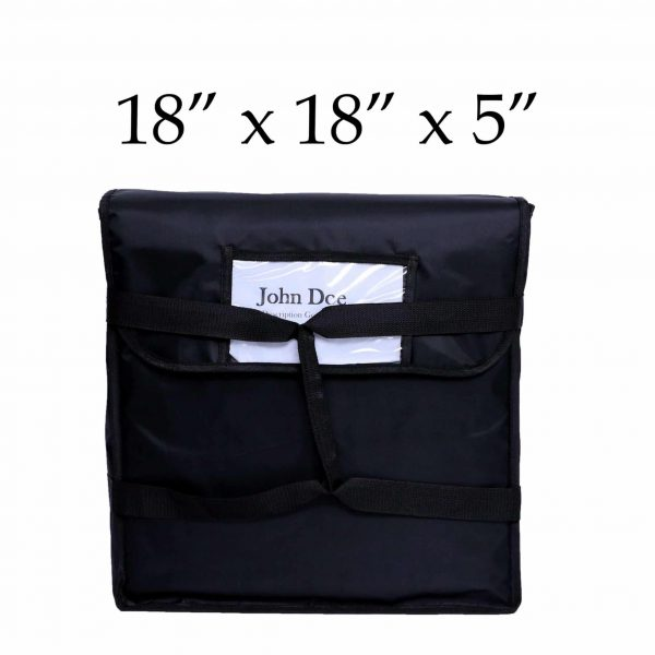 Black Insulated Pizza Delivery Bag (18 x 18 x 5)