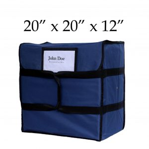blue insulated pizza delivery bags (20 x 20 x 12)