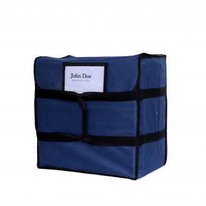 blue insulated pizza delivery bag