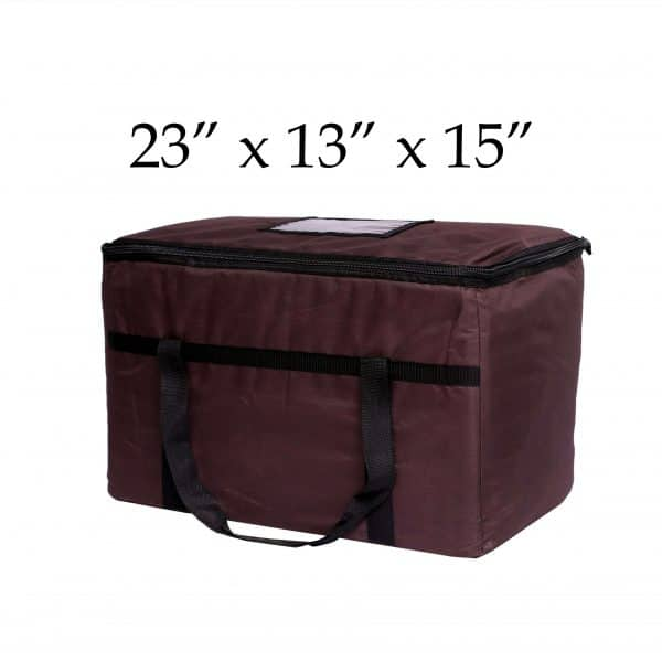 Brown insulated food delivery bags (23 x 13 x 15)