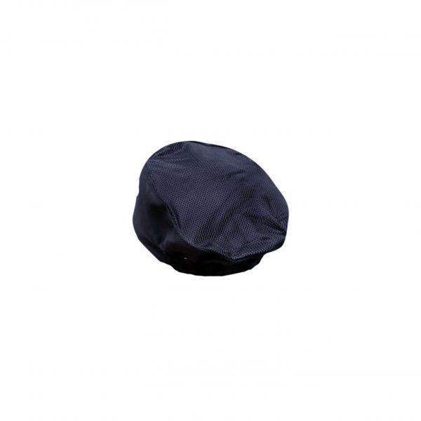black mesh pill box hat