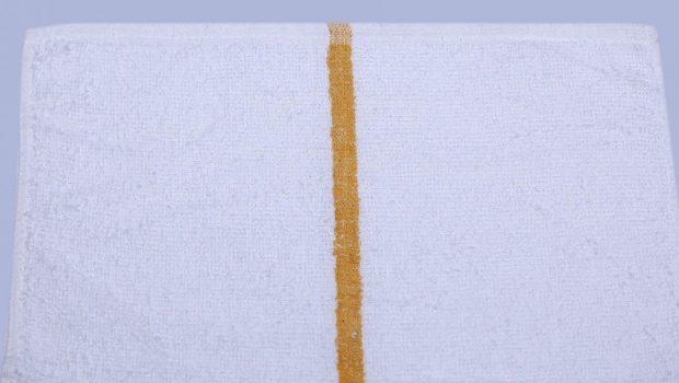 golden striped bar towel