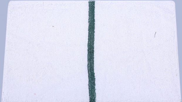 green striped bar towel