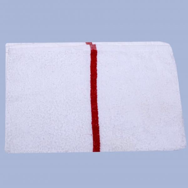red striped bar towel