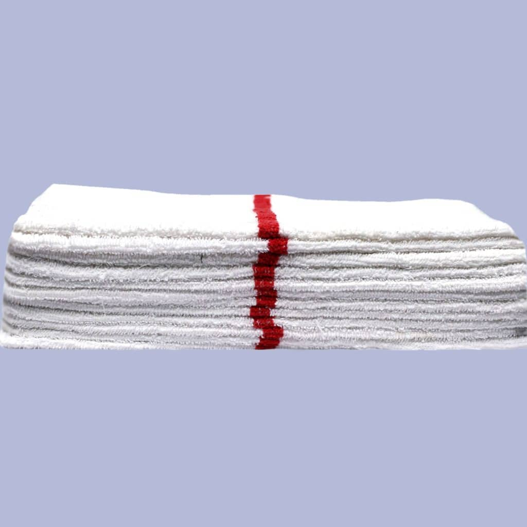 red striped bar towel (dozen)