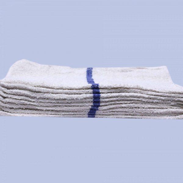 blue striped bar towels (dozen)