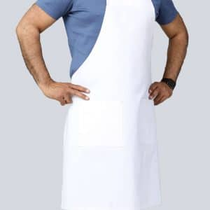 white aprons with pockets