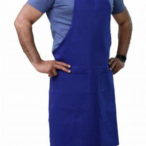 best blue bib apron with pockets