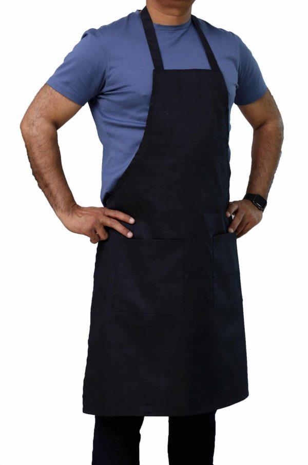 black 34 x 32 Professional bib apron