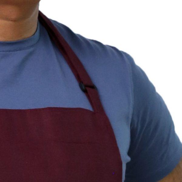 burgundy color adjustable apron