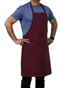 Adjustable Apron Burgundy Color