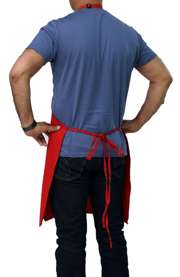 adjustable red color professional apron