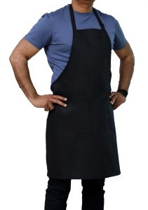 black adjustable apron