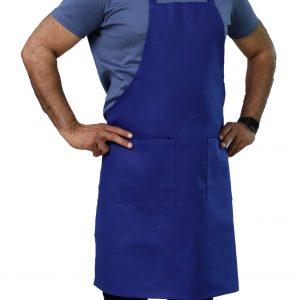 adjustable blue bib aprons