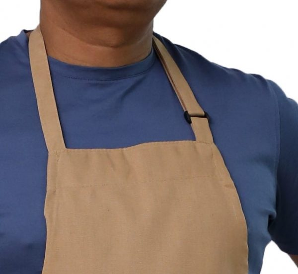 Khaki Adjustable Apron's Neck Buckled