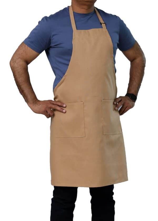 khaki adjustable bib aprons