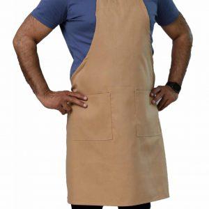 khaki adjustable bib aprons