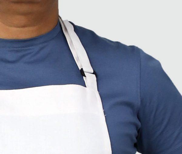 adjusting neck buckle apron