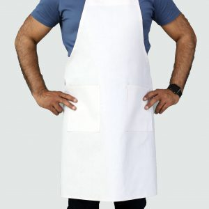 professional sleek white adjustable apron