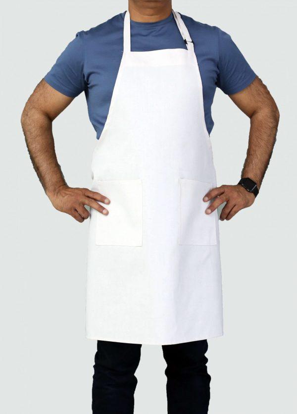 professional sleek white adjustable apron