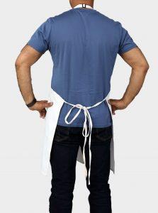 white adjustable apron
