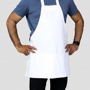 25 x 30 white commercial bib aprons