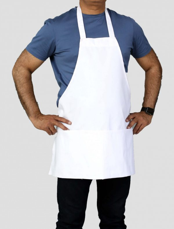 25 x 30 white commercial bib aprons