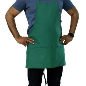 25 x 30 Kelly Green bib apron