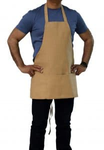 beige color commercial bib apron