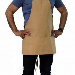 beige color commercial bib apron