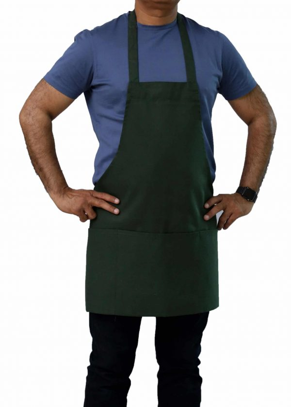 Hunter Green Professional Chef Apron