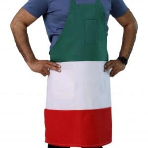 Italian bib apron with pockets